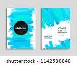 abstract brush strokes... | Shutterstock .eps vector #1142538848