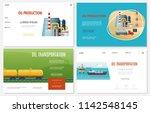 flat oil industry websites set... | Shutterstock .eps vector #1142548145