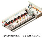 isometric subway station... | Shutterstock .eps vector #1142548148