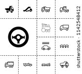 automobile icon. collection of... | Shutterstock .eps vector #1142548412