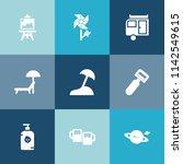 modern  simple vector icon set... | Shutterstock .eps vector #1142549615