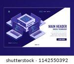 artificial intelligence... | Shutterstock .eps vector #1142550392