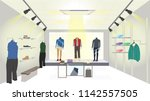 the scene in side of a clothes... | Shutterstock .eps vector #1142557505