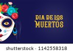 Stock vector dia de los muertos day of the dead mexican holiday festival vector poster banner and card with 1142558318
