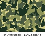 camouflage army patter... | Shutterstock .eps vector #1142558645
