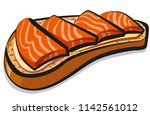 illustration of sandwich with... | Shutterstock . vector #1142561012