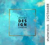 decorative vector watercolor... | Shutterstock .eps vector #1142566688