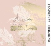 autumn collection trendy chic... | Shutterstock .eps vector #1142569085