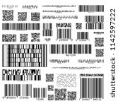 set of isolated barcodes for... | Shutterstock .eps vector #1142597222