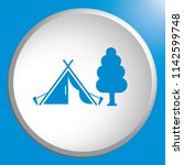 stylized icon of tourist tent.... | Shutterstock .eps vector #1142599748
