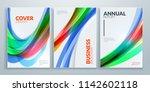business brochure cover design... | Shutterstock .eps vector #1142602118