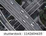 aerial view of highway and...   Shutterstock . vector #1142604635