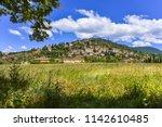 montbrun les bains  provence ... | Shutterstock . vector #1142610485