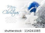 blue and silver xmas decoration ... | Shutterstock . vector #114261085