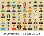 people of different occupations.... | Shutterstock .eps vector #1142620175