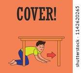 earthquake awareness for... | Shutterstock .eps vector #1142620265
