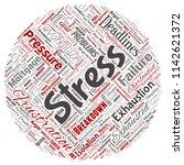 vector conceptual mental stress ... | Shutterstock .eps vector #1142621372