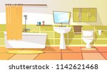 cartoon bathroom interior... | Shutterstock . vector #1142621468