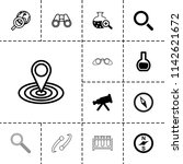 discovery icon. collection of... | Shutterstock .eps vector #1142621672