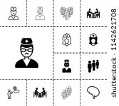staff icon. collection of 13... | Shutterstock .eps vector #1142621708