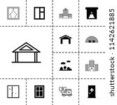 exterior icon. collection of 13 ... | Shutterstock .eps vector #1142621885