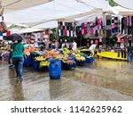 an open market in istanbul ... | Shutterstock . vector #1142625962