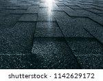 soft roof tiled greenish grainy ... | Shutterstock . vector #1142629172