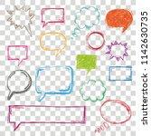 handdrawn colored speech...   Shutterstock .eps vector #1142630735
