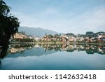 beautiful water reflection in a ... | Shutterstock . vector #1142632418
