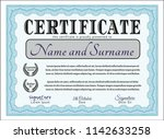 light blue diploma. detailed.... | Shutterstock .eps vector #1142633258