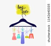 boutique fashion store. fashion ... | Shutterstock .eps vector #1142640335