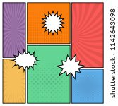 colorful comic book page...   Shutterstock .eps vector #1142643098
