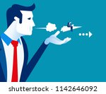 managers push their employee to ... | Shutterstock .eps vector #1142646092