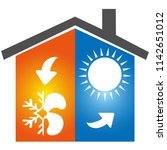 air conditioning symbol icon... | Shutterstock .eps vector #1142651012