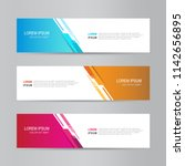 vector abstract web banner... | Shutterstock .eps vector #1142656895