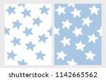 cute hand drawn stars vector... | Shutterstock .eps vector #1142665562