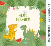 happy birthday  cute childish... | Shutterstock .eps vector #1142668745