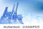 modern chemical manufacturing... | Shutterstock .eps vector #1142669525
