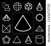 set of 13 simple editable icons ... | Shutterstock .eps vector #1142672732