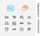 car service icons set. bus and...   Shutterstock .eps vector #1142684882