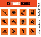 set of tools icons. orange... | Shutterstock .eps vector #1142691605