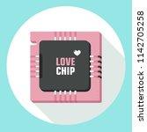 vector love icon computer micro ... | Shutterstock .eps vector #1142705258
