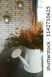 a little plant in coffee shop | Shutterstock . vector #1142710625
