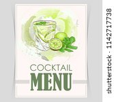 vector flyer  cover menu with a ... | Shutterstock .eps vector #1142717738