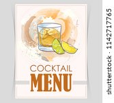 vector flyer  cover menu with a ... | Shutterstock .eps vector #1142717765
