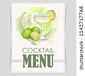 vector flyer  cover menu with a ... | Shutterstock .eps vector #1142717768