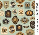 vector seamless pattern on the... | Shutterstock .eps vector #1142720342