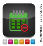 calendar with remove sign icon  ... | Shutterstock .eps vector #1142727092