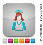 nurse icon  vector medical care ... | Shutterstock .eps vector #1142727095