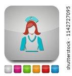 nurse icon  vector medical care ... | Shutterstock .eps vector #1142727095